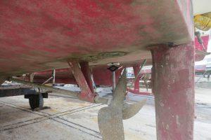 フジツボが付かない船底塗料「フジツボガード」塗布して8ヶ月後の状況