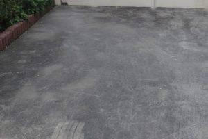 土間コンクリートのカビ